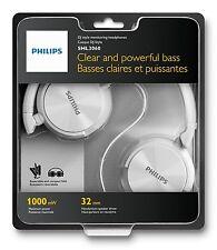 Cascos Philips Blancos SHL3060 3.5 1000mW Diadema Cerrado Auriculares Musica MP3