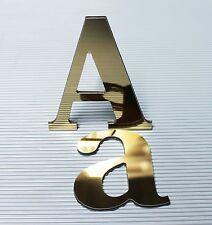 3D Einzelbuchstaben Aluverbund Spiegel Gold 3mm Werbung Buchstaben