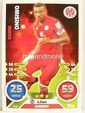 Match Attax 2016/17 Bundesliga - #248 Karim Onisimwo - 1. FSV Mainz 05