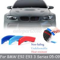 FOR BMW E92 E93 3 Series 2005-2009 M SPORT GRILL GRILLE STRIP COVER CLIP