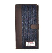 Azul Allasdale Harris Tweed Viaje Documentos Cartera por British Mochila Company