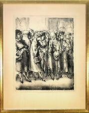 A. Paul Weber: Im Prado II. (3.1.61). Signierte Original-Lithografie. Gerahmt.