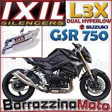 TERMINALE SCARICO IXIL L3X DUAL HYPERLOW DB KILLER EST SUZUKI GSR 750 - ABS 2011