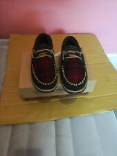 Woolrich Austin Potter Slide Moccasin Slippers, Red Hunting Plaid, Men's Size 9