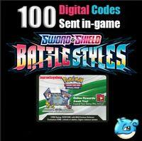 x100 Battle Styles codes booster packs ingame Pokemon TCG Online sent super fast
