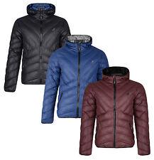 Kangol Men's Quilt Puffer Jacket Gallia Lightly Padded Warm Hooded Outdoor Coat
