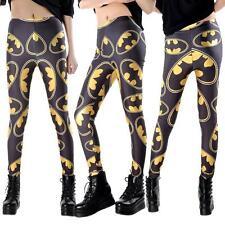 Womens Super Hero Comic Batman Full Length Stretchy Ankle Leggings Pants