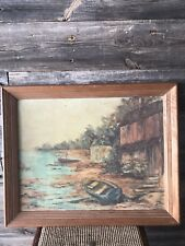 Vintage GRAHL Landscape Oil Painting Rare