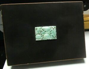 OLD JAPANESE YAMANAKA LACQUER ENAMEL IMPERIAL WHITE & GREEN JADE TOP HUMIDOR BOX