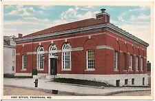 Post Office in Frostburg MD Postcard