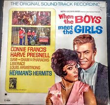 """WHEN THE BOYS MEET THE GIRLS - O.S.T - LP -"""" NEW, FACTORY SEALED """" MGM 4334"""