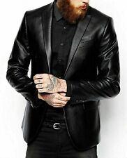 Blazer Brand New Real Leather Jacket Black Coat Men's Genuine Lambskin Leather