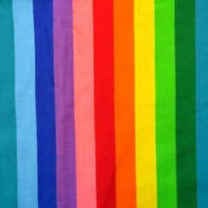 3.9 Yards Vintage Rainbow Stripe Fabric Cotton 1980s