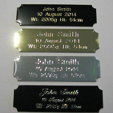 Concave Engraved Metal Plate 64x19mm