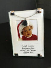 Baby's First Christmas  Picture Frame with Stand NEW Photo With Charm