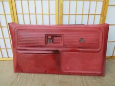 73-87 Chevy GMC Suburban Pickup Blazer Jimmy LEFT Drivers RED Crank Door Panel
