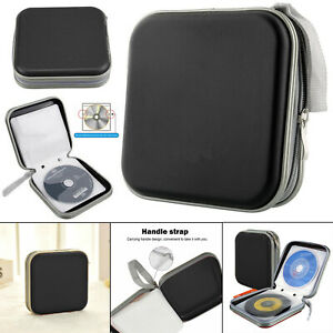 40 CD/DVD Storage Wallet Car Disc Holder Carry Case Pocket Protector Sleeve Bag
