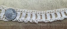 "A36 Antique Crochet Lace Trim Primitive Edging Coarse 24"" Sewing Costume Doll"
