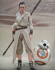 "HOT TOYS - 12"" REY & BB-8 DELUXE ACTION FIGURE SET ~ STAR WARS:THE FORCE AWAKENS"