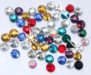 1440 2.5mm iron-on MIX colour Rhinestone diamante bead cardmaking craft applique