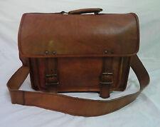 Vintage Leather Satchel Messenger Bag Laptop Briefcase Crossbody Shoulder Sling