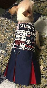 NFL New England Patriots Cheerleader Dress for Small Dog