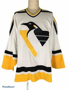 VTG PITTSBURGH PENGUINS CCM USA NHL Ice Hockey Player Jersey SHIRT HOME M RARE