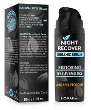NIGHT RECOVER Bio Face Natural Anti Wrinkle Anti-Ageing Organic Vegan Serum 50ml