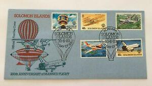 MBC80) Solomon Islands 1983 Manned Flight FDC