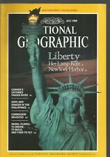 National Geographic July 1986 Liberty/N Y Harbor'Fraser River/Corregidor