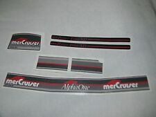MERCRUISER ALPHA ONE GRAY GEN II DECAL SET WITH RED TRIMS