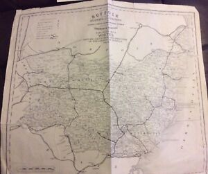 Old Map of Suffolk, 1891/92 Published by Whites, German Ocean.