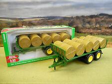 SIKU FARM 1/32 BALE TRAILER & 15 ROUND BALES 2891 *BOXED & NEW*