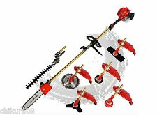 Multi 52CC 2 strokes 7 in 1 brush cutter lawn mower grass trimmer tree pruner