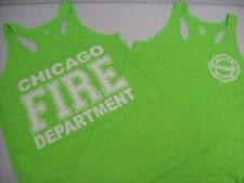 Chicago Fire Department Ladies Racerback Lime Tank Top