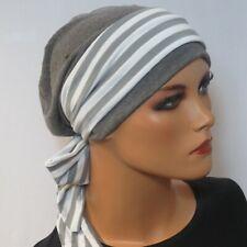 2-tlg. SET MÜTZE/BEANIE + langes Band  Chemo Mütze Kopf & Kragen Chemo Tuch