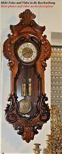 120cm H GUSTAV BECKER Schwarzwälder Black Forest Wiener Vienner  Regulator 95262