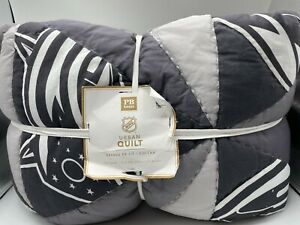 New Pottery Barn Teen NHL Urban Patchwork Full/Queen Quilt