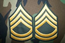 US Army MALE Sergeant First Class SFC E-7 Green Class A Military Patch Rank