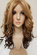 Red copper golden blonde, brown, black curly human hair wig