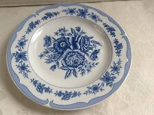 """Floral Toile Blue "" - American Atelier - Dinner Plate ."