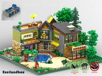 Haus am Wald - MOC - PDF Bauanleitung - kompatibel mit LEGO Steine