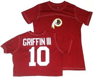 Washington Redskins Robert Griffin III Glitter Gal Ladies Shirt Burgundy
