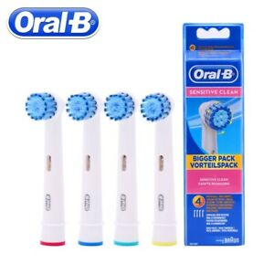 4X Oral-B Sensitive Clean Replacement tooth Brush Heads - Brand New