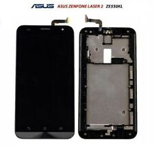 LCD DISPLAY ASUS per ZENFONE 2 LASER ZE550KL Z00LD FRAME TOUCH SCREEN NERO NUOVO