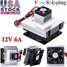12V 6A Thermoelectric Peltier Refrigeration Cooler Fan Cooling System Kit Useful