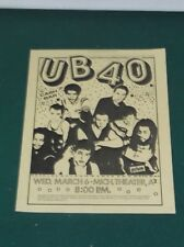 1984 UB40 ORIGINAL CONCERT HANDBILL FLYER MICHIGAN THEATRE ANN ARBOR MICHIGAN