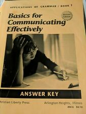 Basics for communicating effectively book 1 applications of grammar answer key