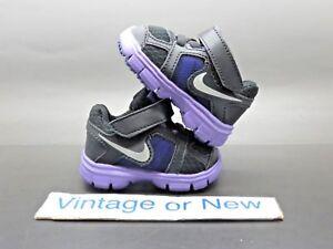 Girls Nike Fusion ST 2 Black Purple Running Shoes Toddler 457038-009 sz 2C