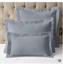 Restoration Hardware Vintage-Washed Diamond MatelassÉ King Pillow Sham Pacific